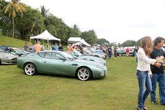 Modern aston martin db7 zagato in lineup Royalty Free Stock Photography