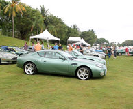 Modern Aston Martin DB7 Zagato in lineup Stock Images
