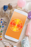 Modern astrology concept with mobile Stock Image