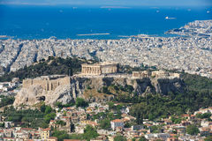 Modern Athens shot from Lycabettus hill Royalty Free Stock Photo