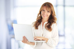Modern attractive business woman Royalty Free Stock Photos
