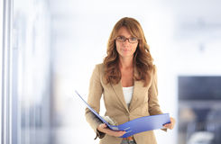 Modern attractive business woman Royalty Free Stock Photo