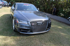 Modern audi on display at event Stock Photography