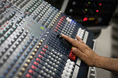 Modern audio mix pult Royalty Free Stock Photo