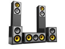 Modern audio system stock illustration