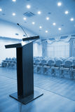 Modern auditorium hall with tribune Royalty Free Stock Photo