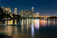 Modern Australian city at night Royalty Free Stock Photo