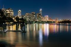 Modern Australian city at night Royalty Free Stock Photo