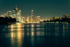 Modern Australian city at night Royalty Free Stock Photography