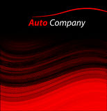 Modern auto company logo design concept. With sports saloon car silhouette on red background. Vector illustration Royalty Free Stock Image