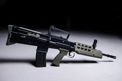 Modern automatic bullpup rifle. Modern automatic tactical rifle with bullpup system royalty free stock photography