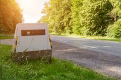 Modern automatic speed camera Royalty Free Stock Images