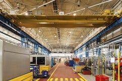 Modern automatisk fabrik Arkivbild
