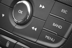 Modern automobieldashboard met controleknopen Royalty-vrije Stock Foto's