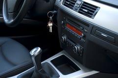 Modern Automobile Black Interior Stock Photography