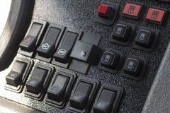 Modern automobile dashboard closeup Stock Photo