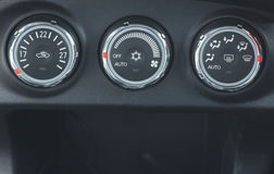 Modern automobile dashboard closeup Royalty Free Stock Image