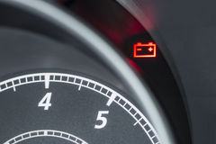 Modern automobile dashboard closeup Stock Photo