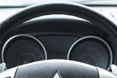 Modern automobile dashboard closeup Stock Images
