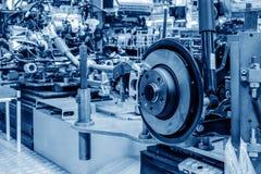 Automobile production line. Modern automobile production line, automated production equipment royalty free stock image