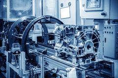 Automobile production line Stock Photos