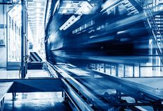 Automobile production line. Modern automobile production line, automated production equipment royalty free stock photography