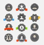 Modern avater icons stock illustration