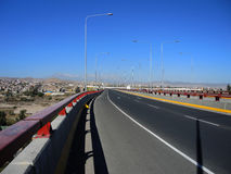 Modern avenue, Arequipa, Peru. Royalty Free Stock Photos
