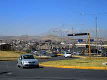 Modern avenue, Arequipa, Peru. Stock Photography