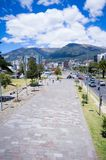 Modern avenue in Quito Ecuador Royalty Free Stock Images