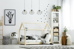 Modern baby bedroom in white Royalty Free Stock Image