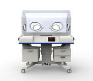 Modern Baby Incubator Hospital Equipment Royalty Free Stock Photo