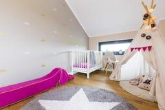 Modern baby room design Stock Photos