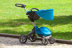 Modern baby stroller Stock Photography