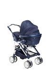 A modern baby stroller Royalty Free Stock Photos