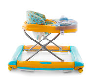 Modern baby walker with music and toys isolated Stock Images