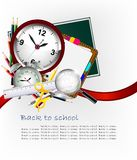Modern Back to school background Stock Image
