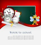 Modern Back to school background Stock Images