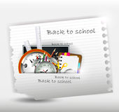 Modern back to school background for you design Royalty Free Stock Image