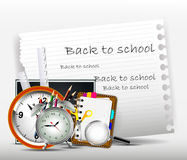 Modern back to school background for you design Stock Image