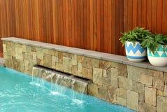 Modern back yard design Stock Photography