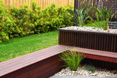 Modern back yard design ideas Royalty Free Stock Photography