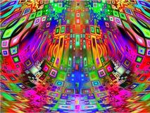 Modern backgr för abstrakt dynamisk futuristisk dekorativ utforskning royaltyfria bilder