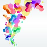 Modern background with abstract shapes Royalty Free Stock Photo