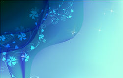 Modern background in blue Stock Image
