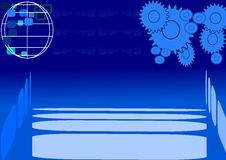 Modern background in blue vector illustration