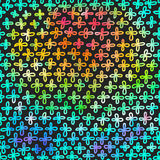 Modern  background with colourful rainbow crosses Royalty Free Stock Images