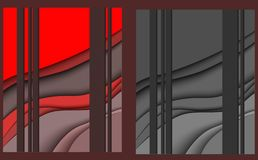 Papercut red gray royalty free illustration