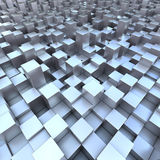 Modern background 3D blueish cubes. Modern background 3D blueish shiny cubes. Abstract city buildings Royalty Free Stock Photography