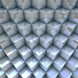 Modern background 3D blueish organized cubes. 3D render royalty free illustration